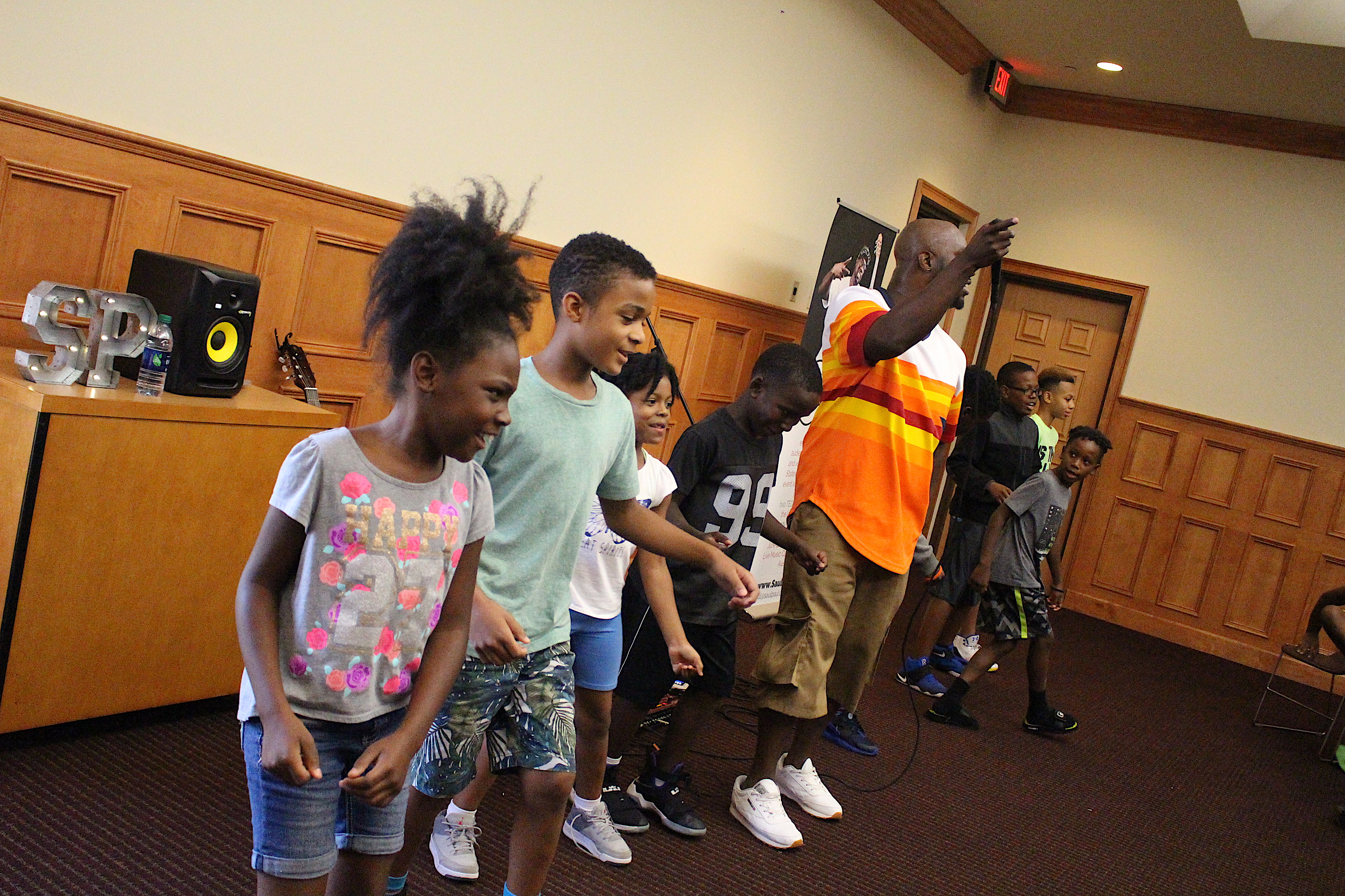 SaulPaul and the Youth at the Salvation Army KROC Center