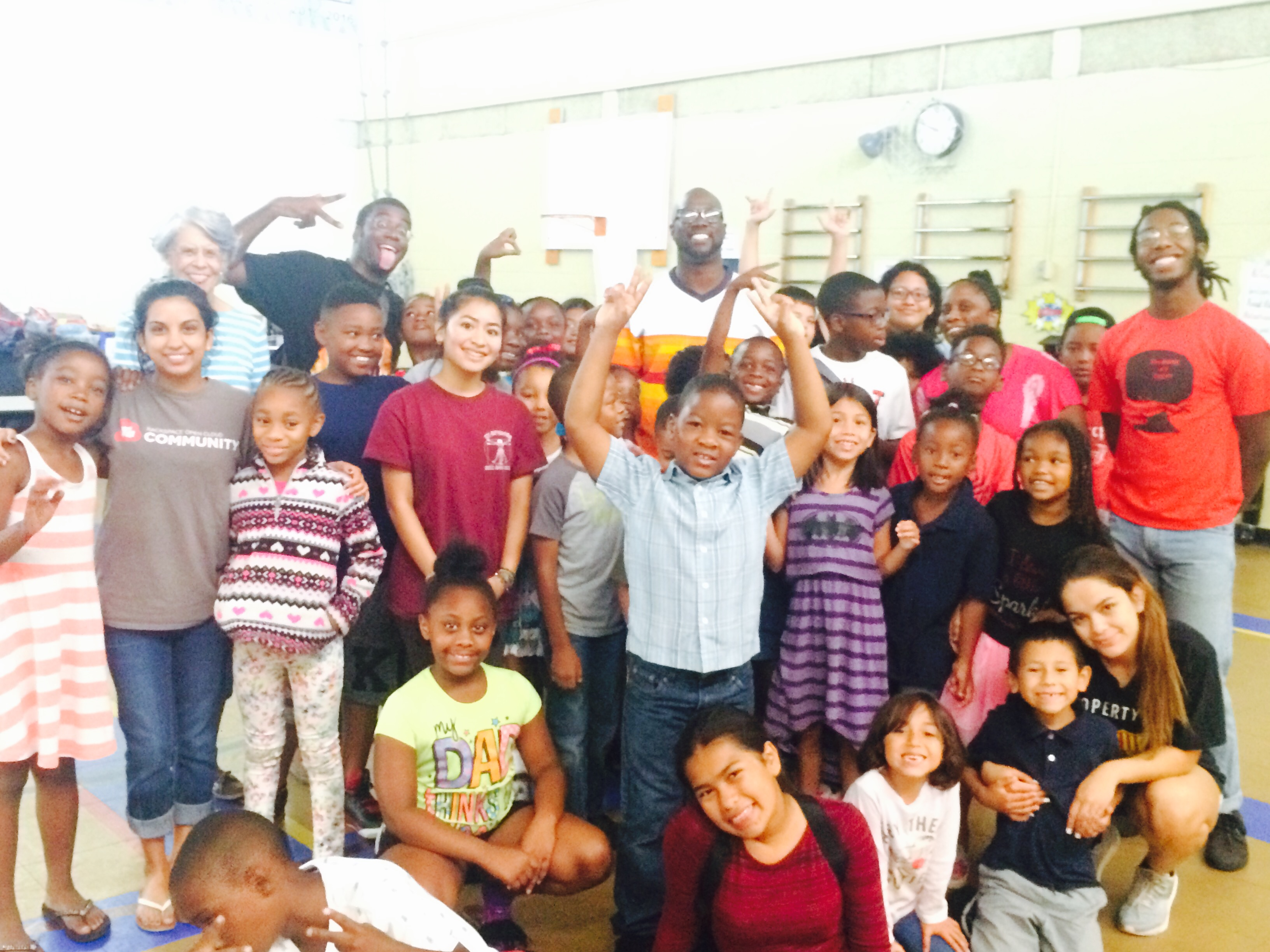 SaulPaul with the Children at Freedom School Austin