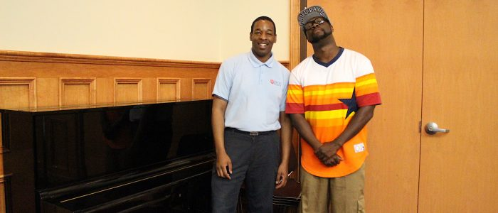 SaulPaul with the Salvation Army Center Youth Director