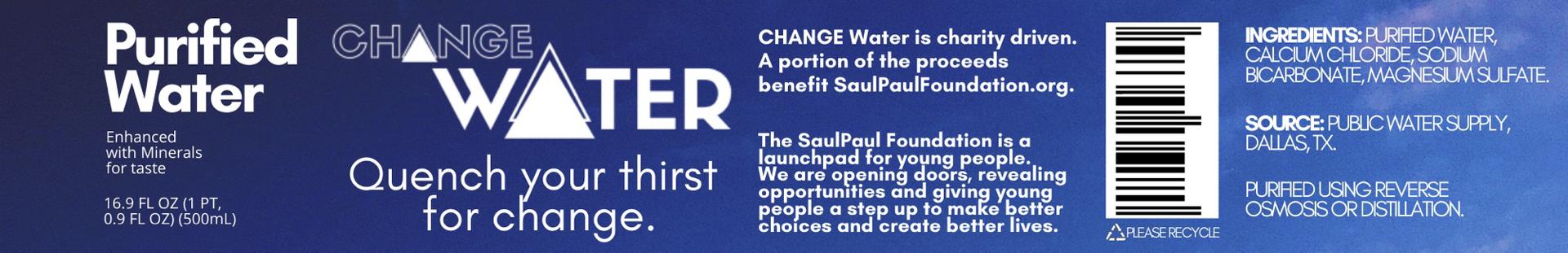 Change Water Banner